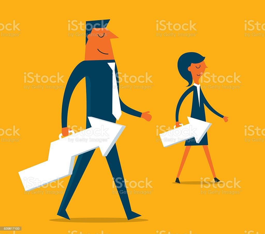 Growing Business vector art illustration