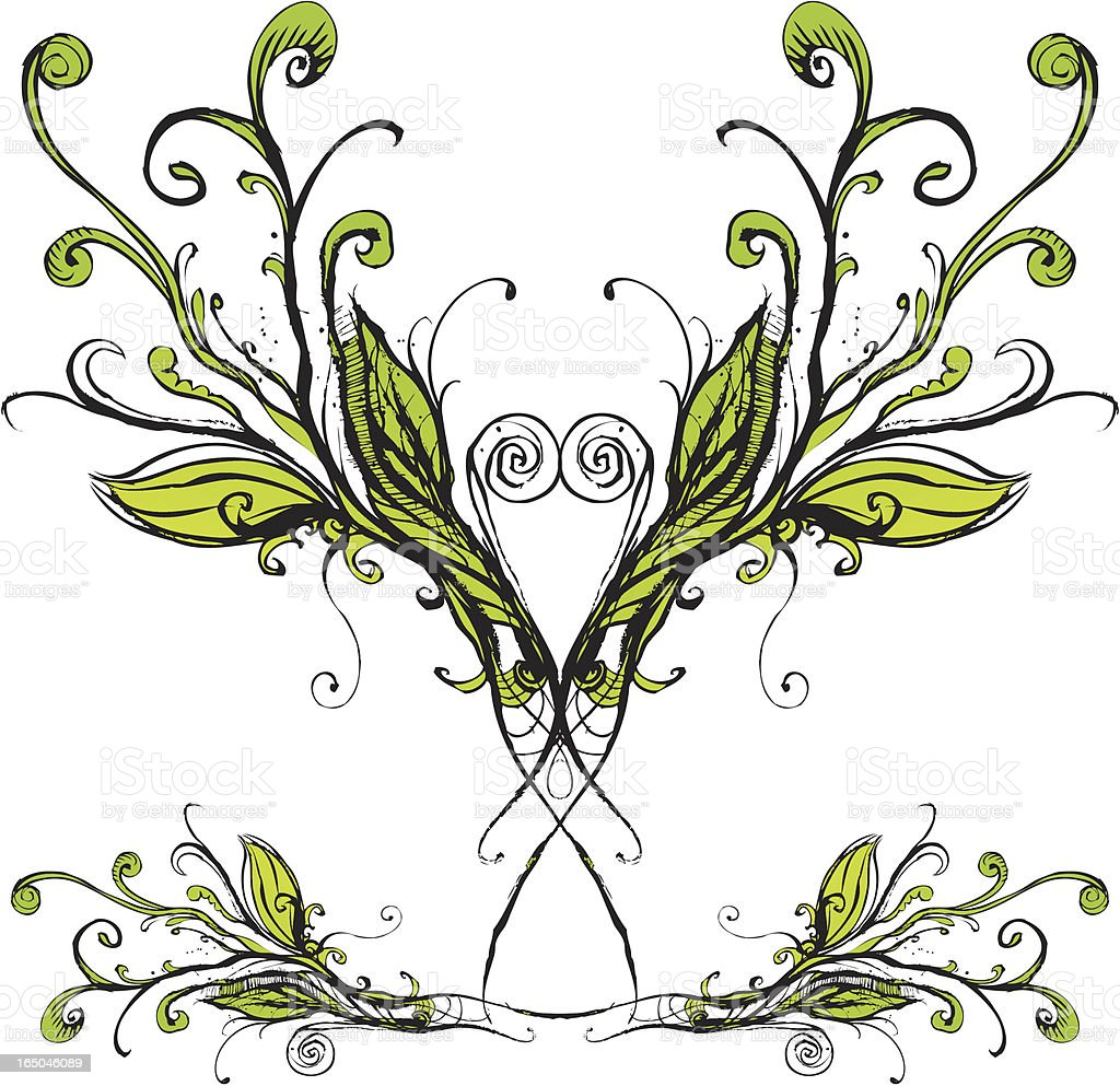 Wachsende curlies Lizenzfreies vektor illustration