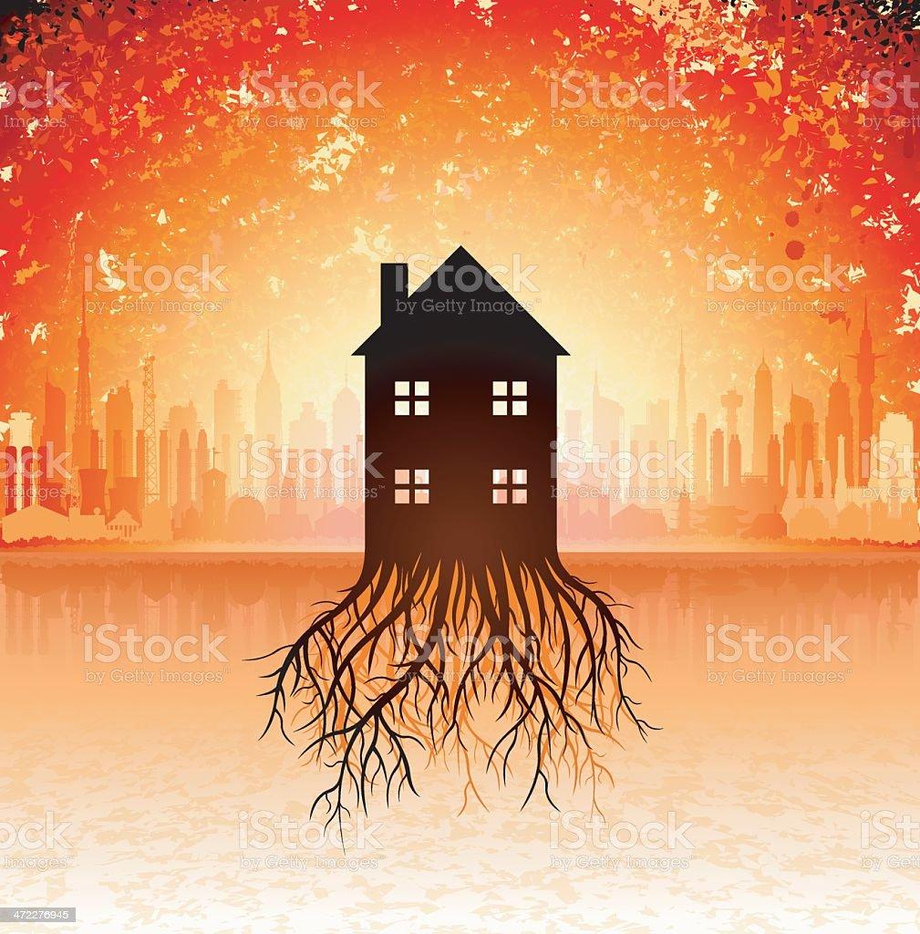 Growing Housing Market royalty-free stock vector art