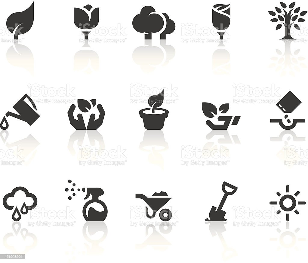 Growing Icons | Simple Black Series vector art illustration