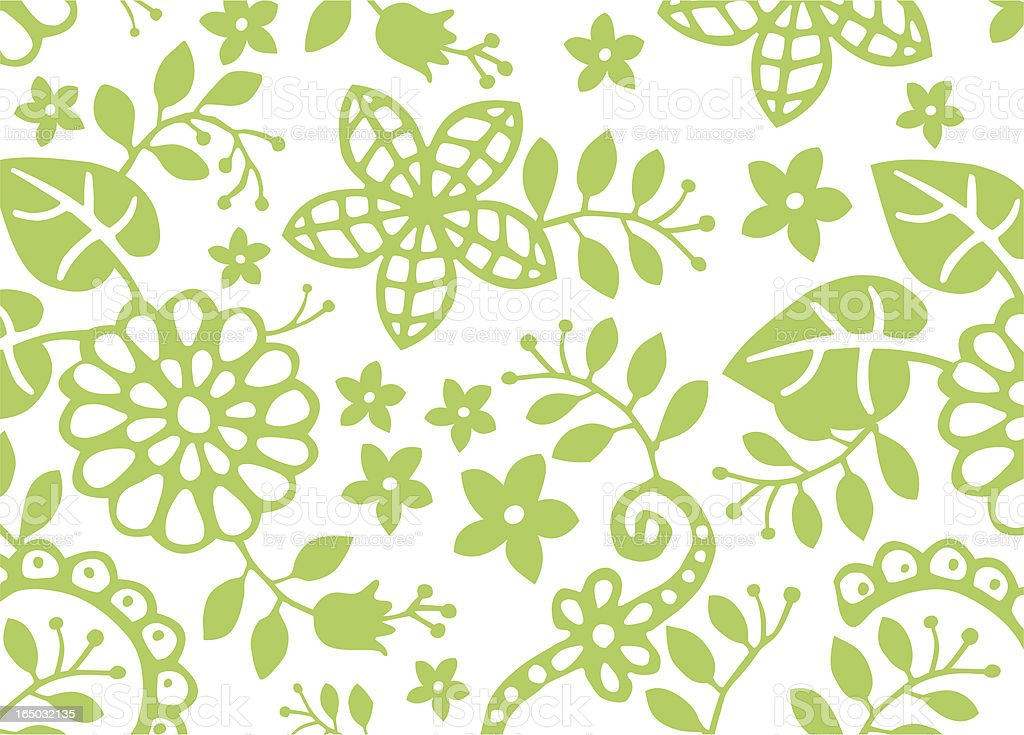Growing leaves and flowers royalty-free stock vector art