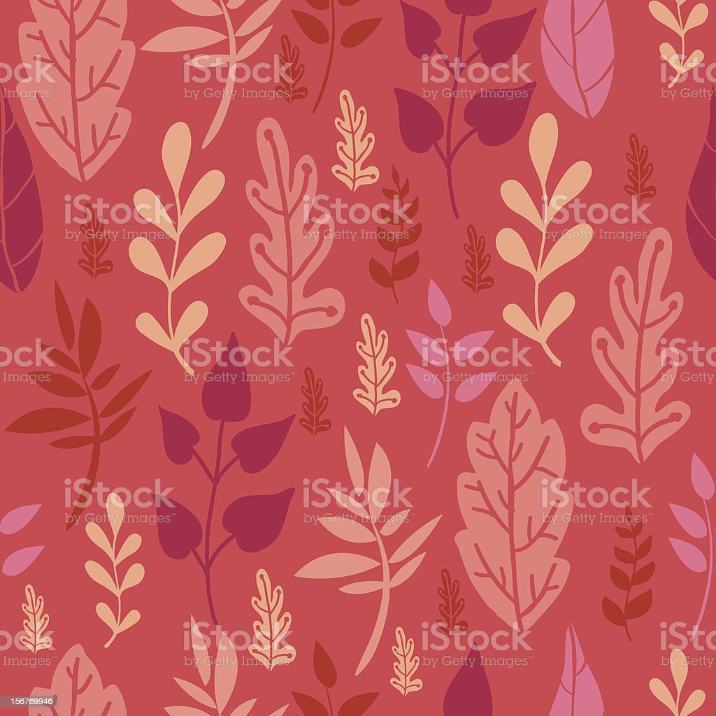 Growing leaves seamless pattern royalty-free stock vector art