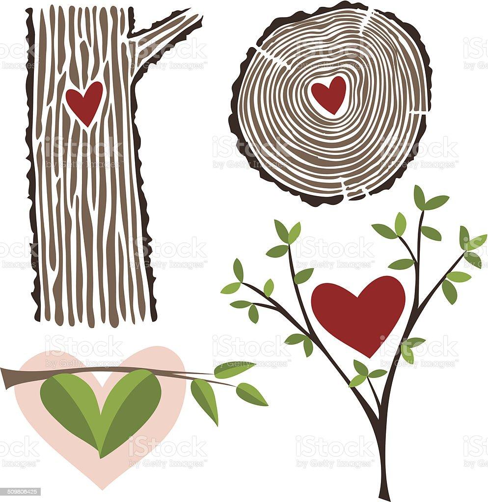 Growing Love vector art illustration
