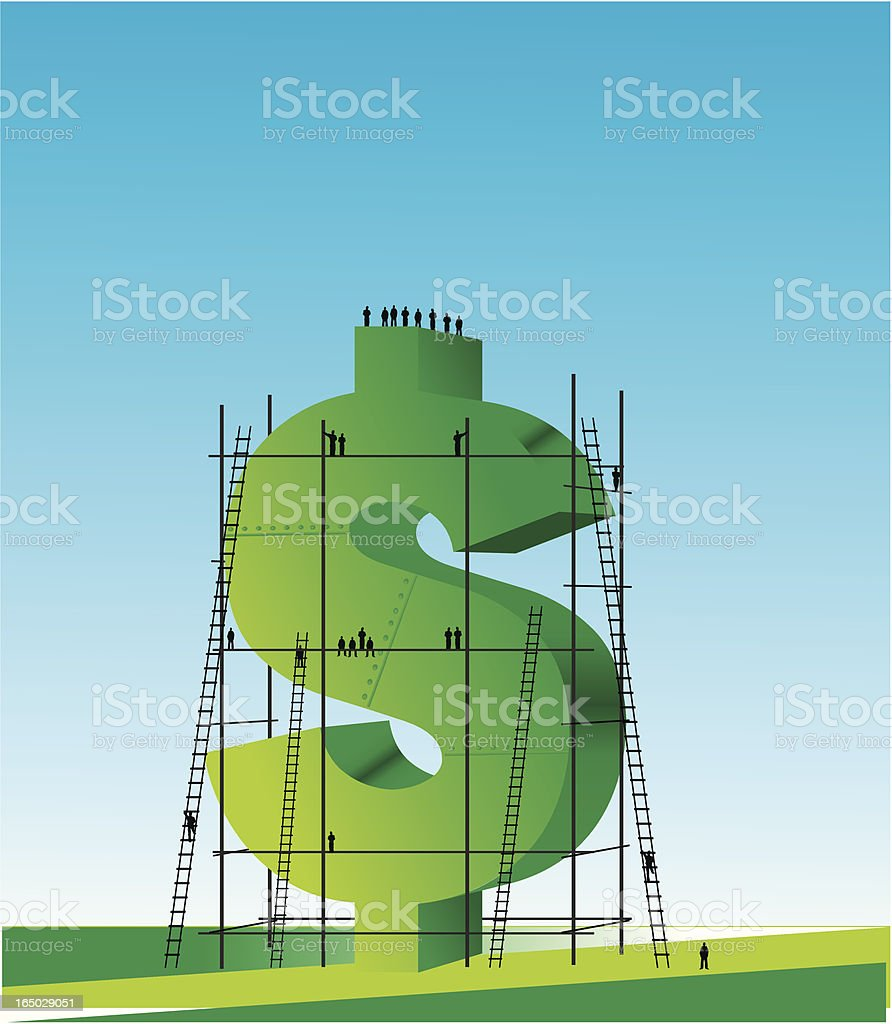 growing money royalty-free stock vector art