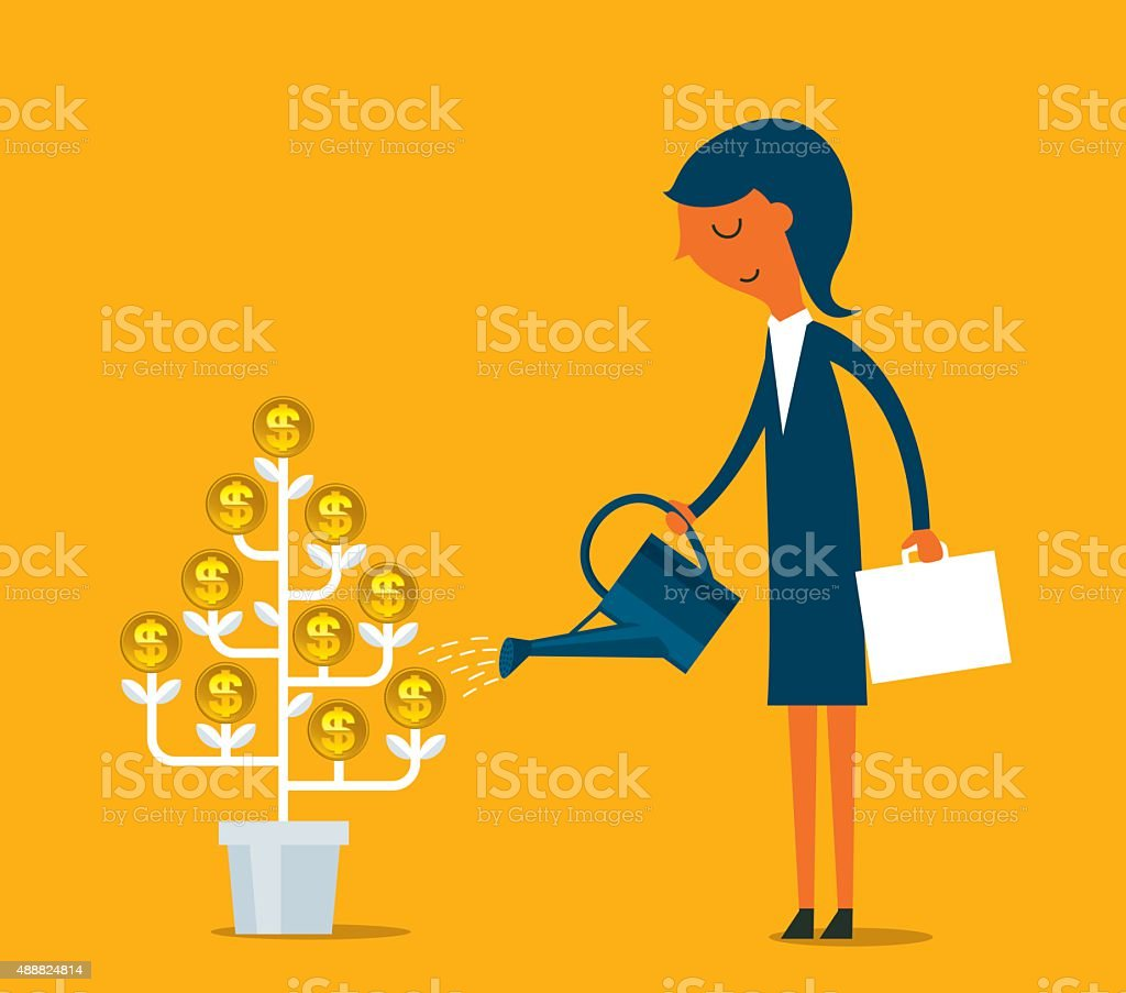 Growing Money vector art illustration