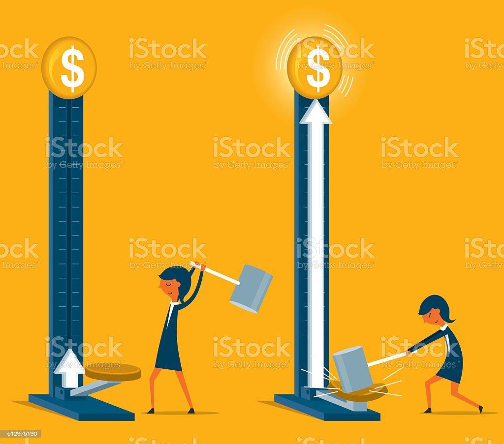 Growing Money vector art illustration