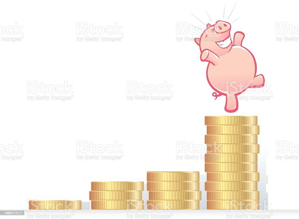 Growing Savings royalty-free stock vector art