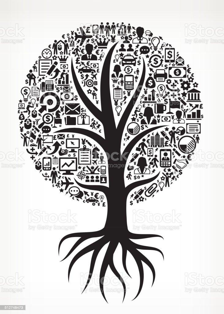 Growing Tree Business royalty free vector arts vector art illustration