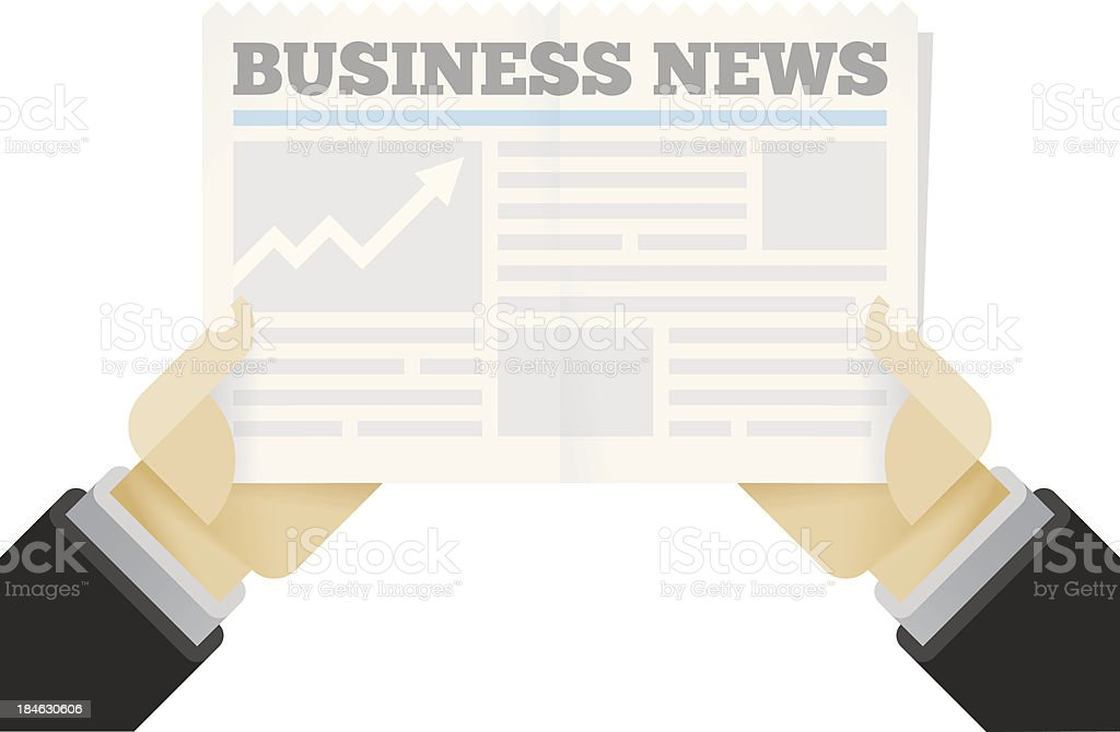 Growth! Business News newspaper royalty-free stock vector art
