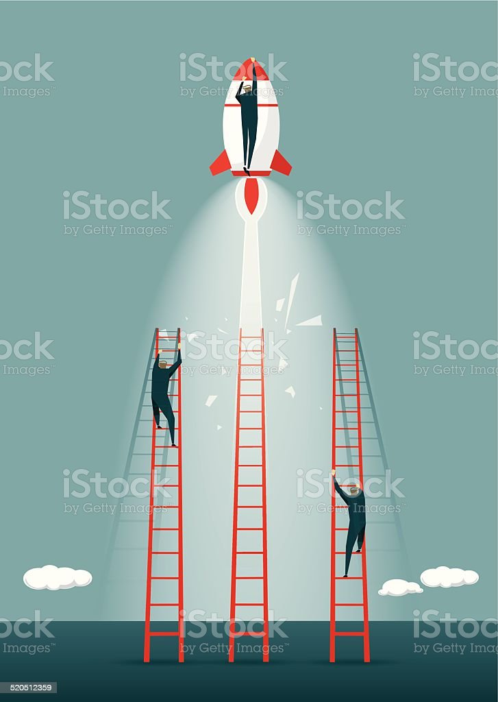 Growth, Development, Winning, Creativity, Pioneer, Challenge, Solution vector art illustration