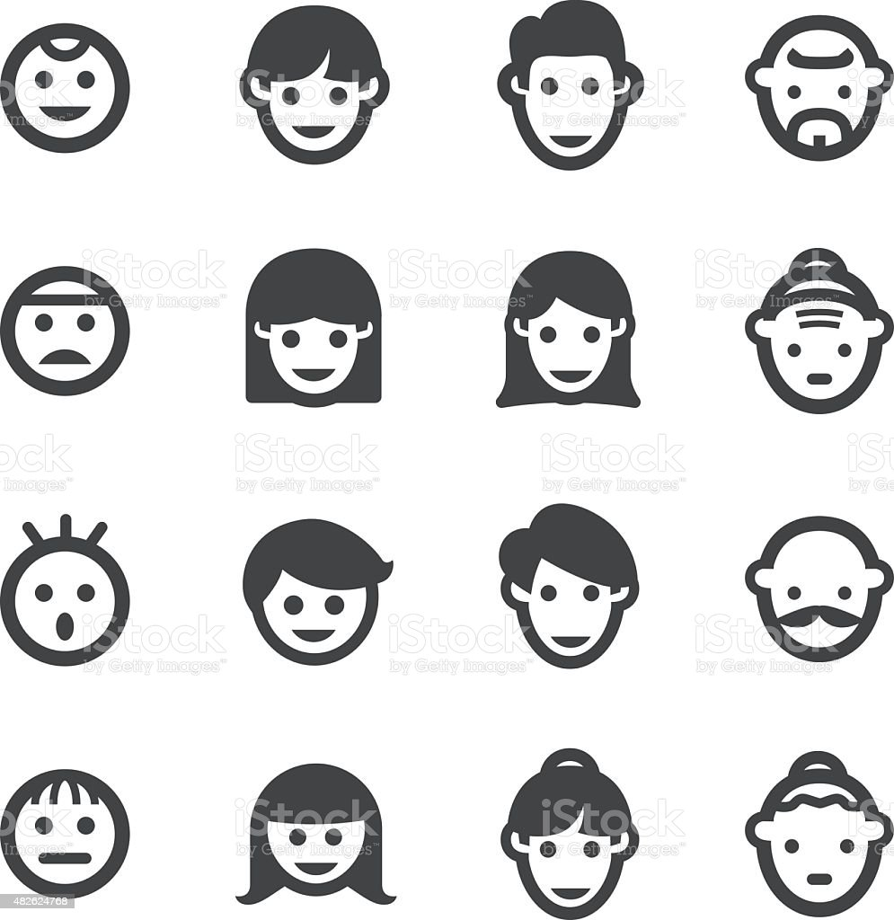 Growth, Generation and Face Icon - Acme Series vector art illustration
