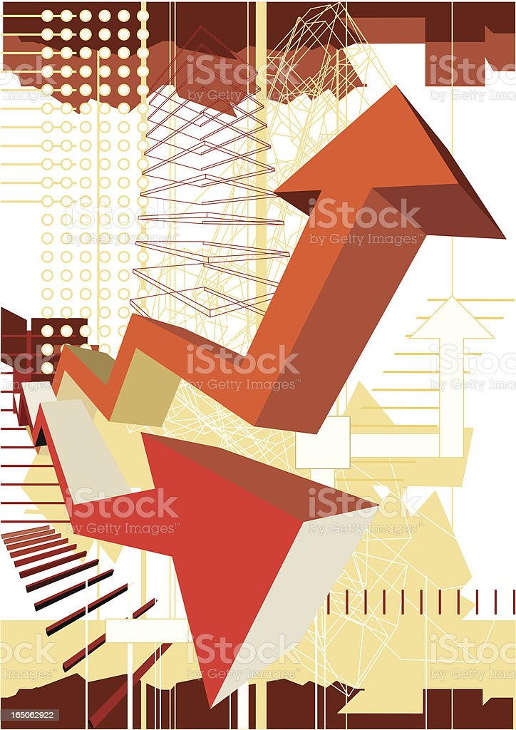 Growth graph royalty-free stock vector art