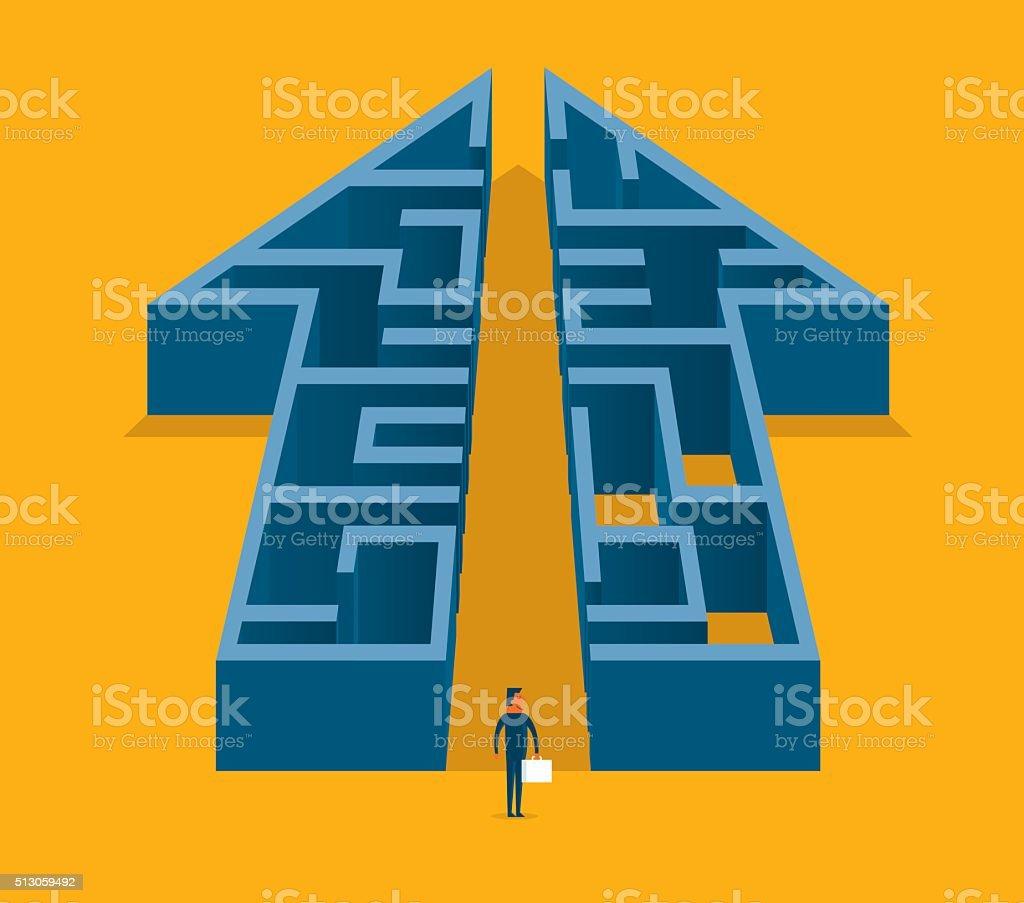 Growth Maze vector art illustration