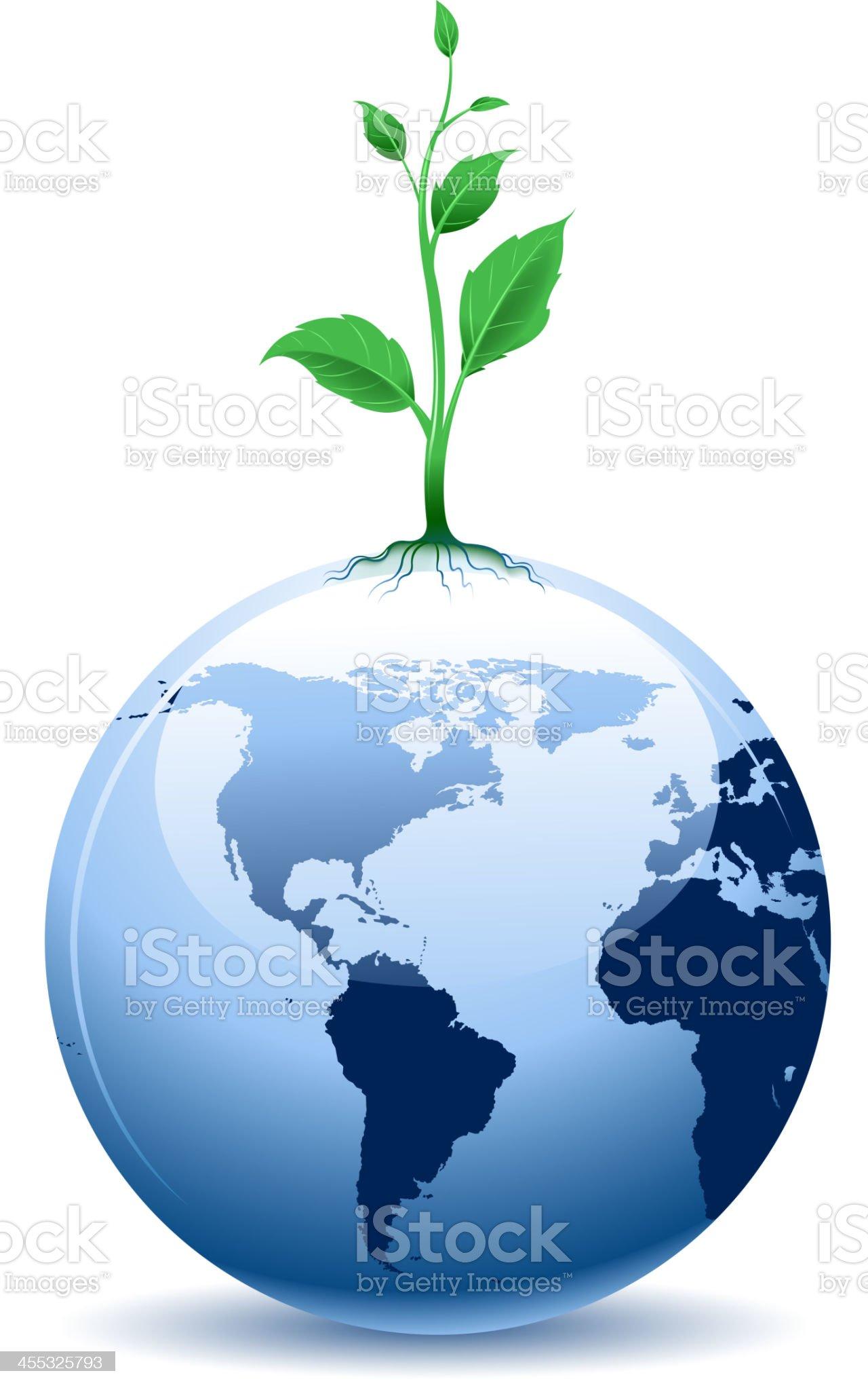 growth on world royalty-free stock vector art
