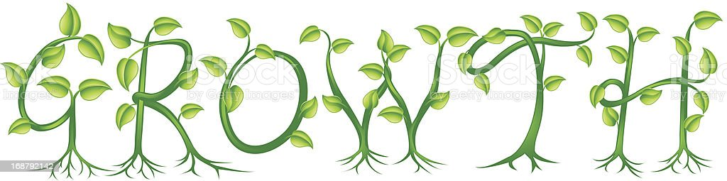 Growth plant typography concept royalty-free stock vector art