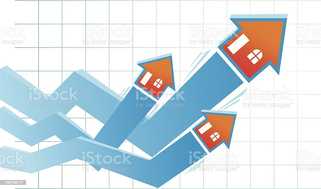 Growth Real Estate Competition royalty-free stock vector art