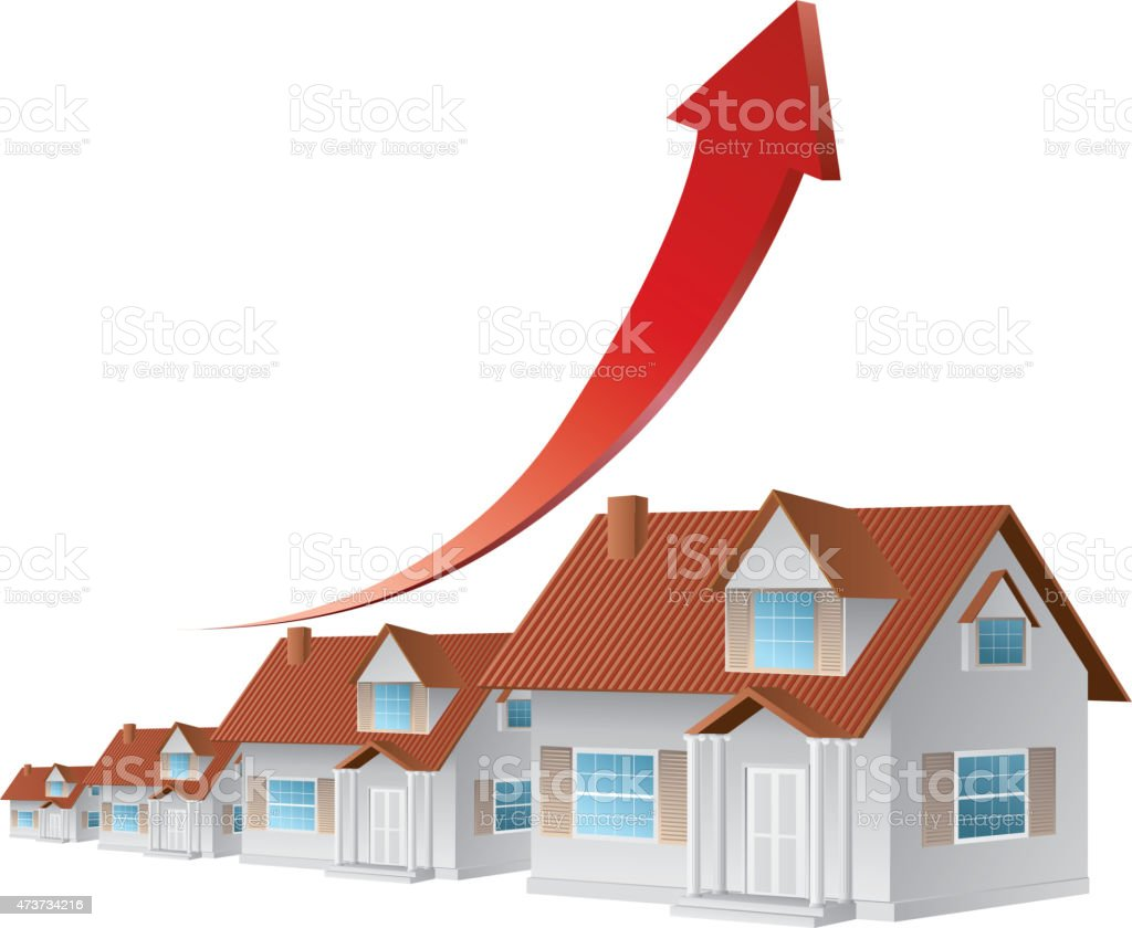 Growth real estate vector art illustration