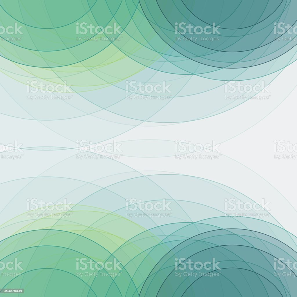 Growth Semi Circle Background Square vector art illustration