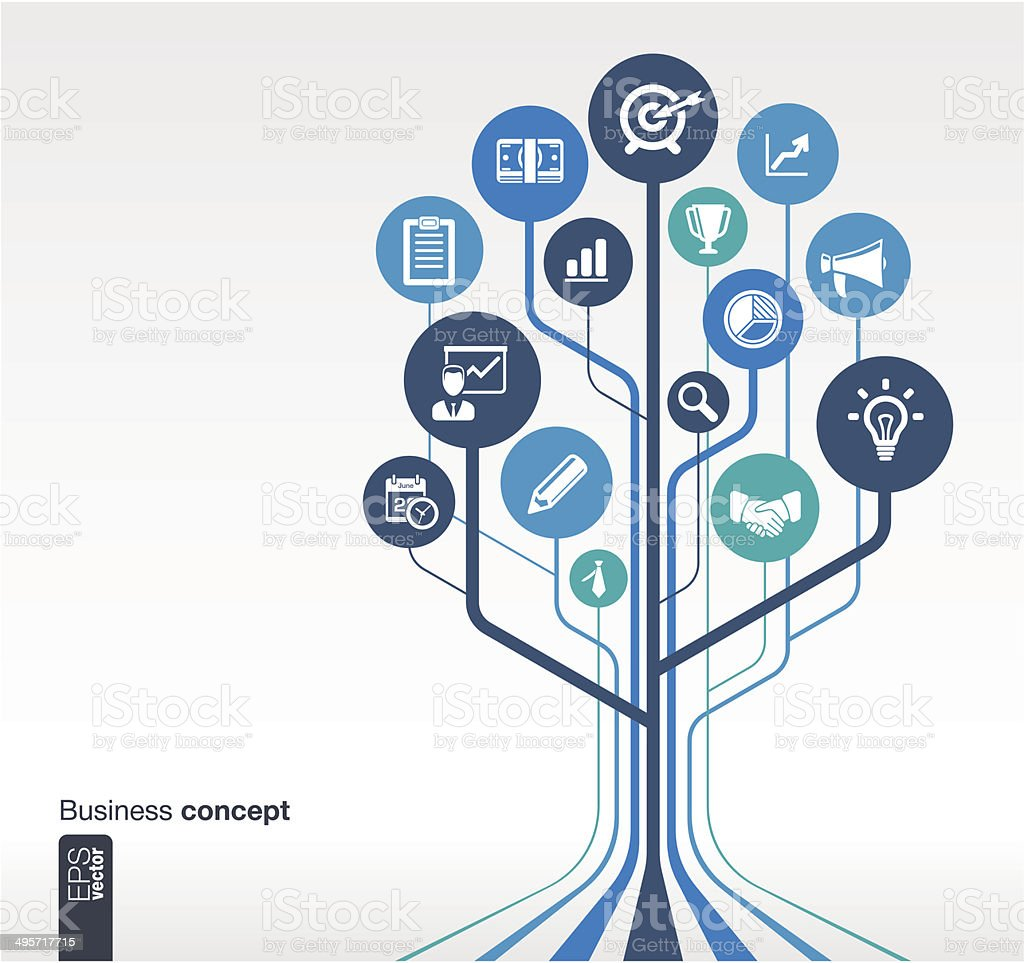 Growth tree concept for business vector art illustration