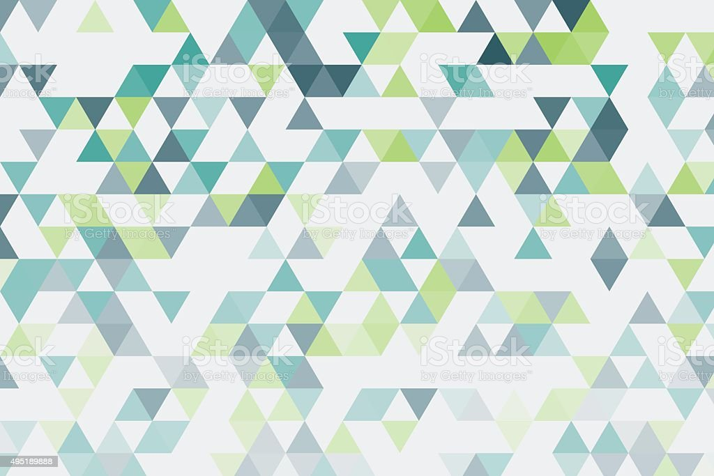 Growth Triangle Gradient Pattern vector art illustration