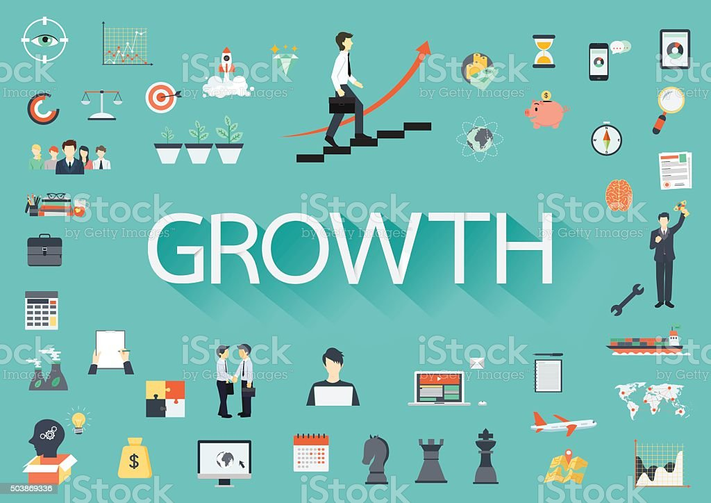 Growth vector art illustration