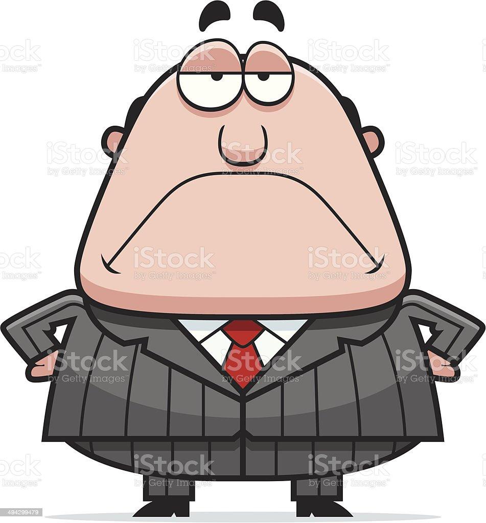 Grumpy Boss vector art illustration
