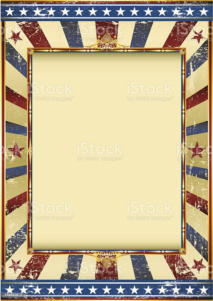 grunge american circus royalty-free stock vector art