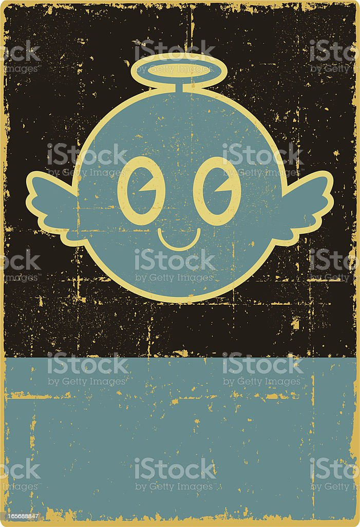 Grunge Angel Sign royalty-free stock vector art