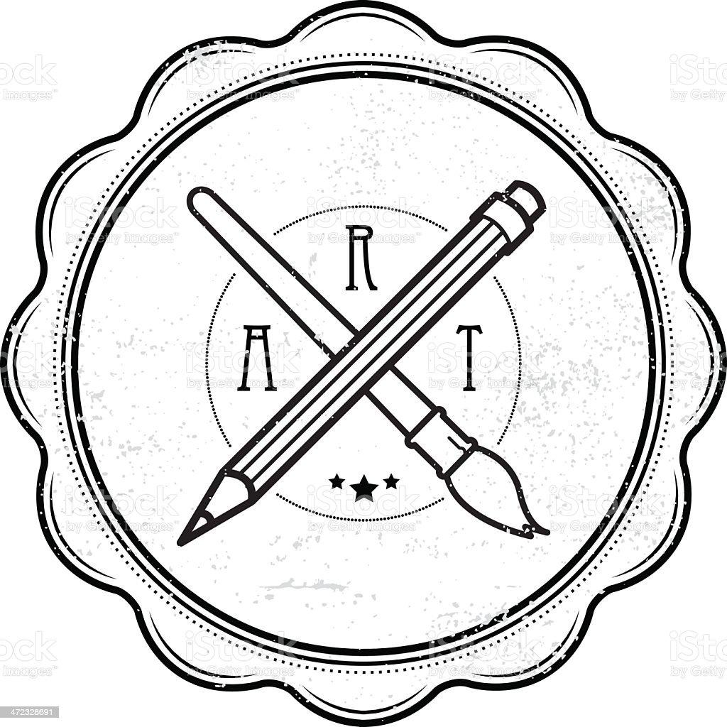 Grunge art stamp vector art illustration