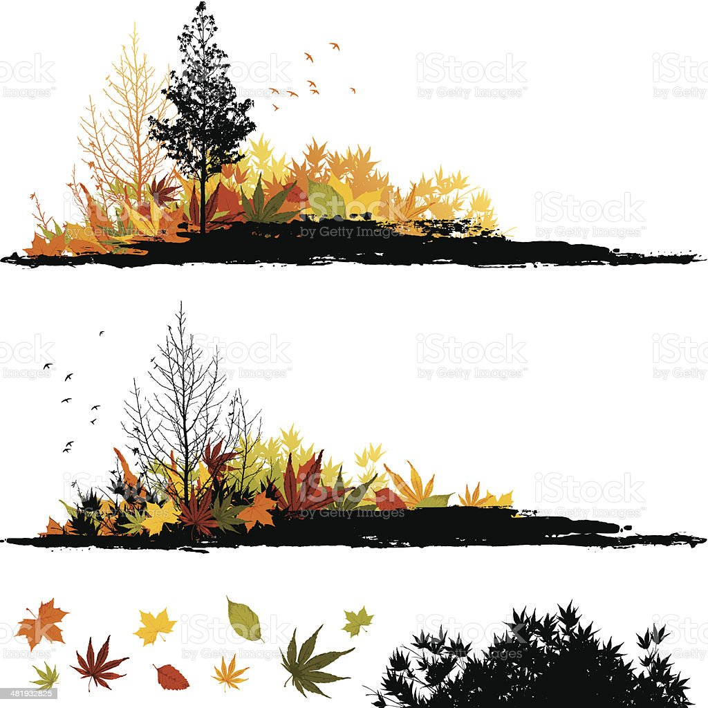 Grunge Autumn strips royalty-free stock vector art