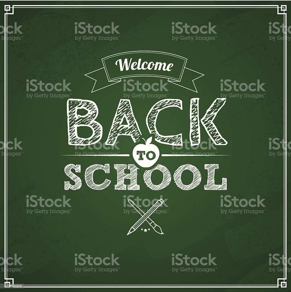 Grunge back to school background royalty-free stock vector art