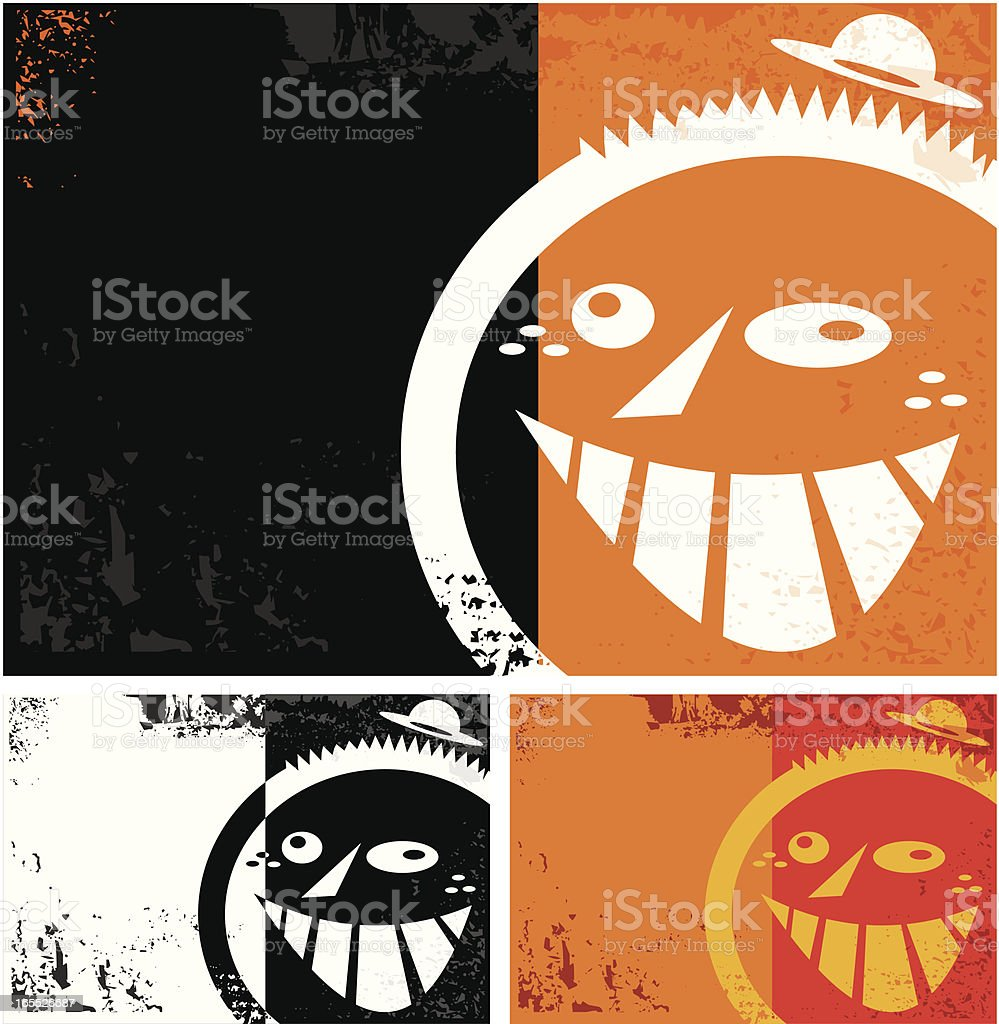 backgroud grunge con cara royalty-free stock vector art