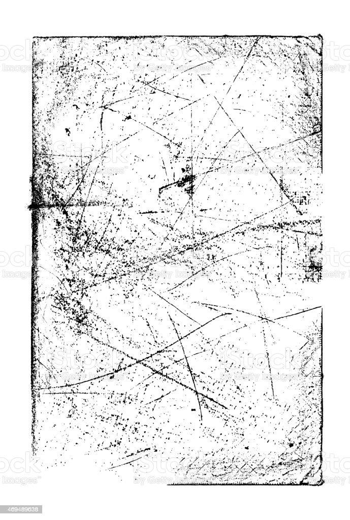 Grunge background frame: Scratched texture vector art illustration