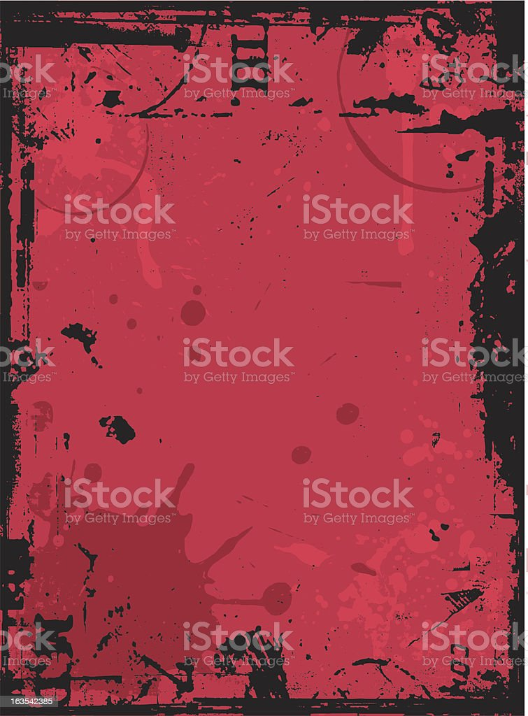 Grunge background illustration in red and black royalty-free stock vector art