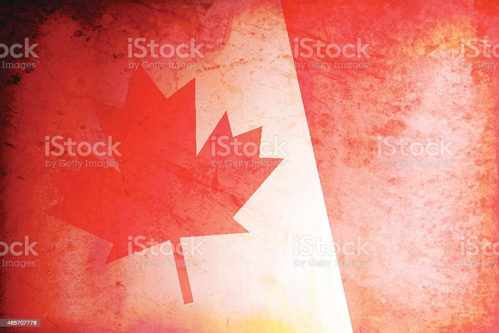Grunge background of Canada Flag vector art illustration