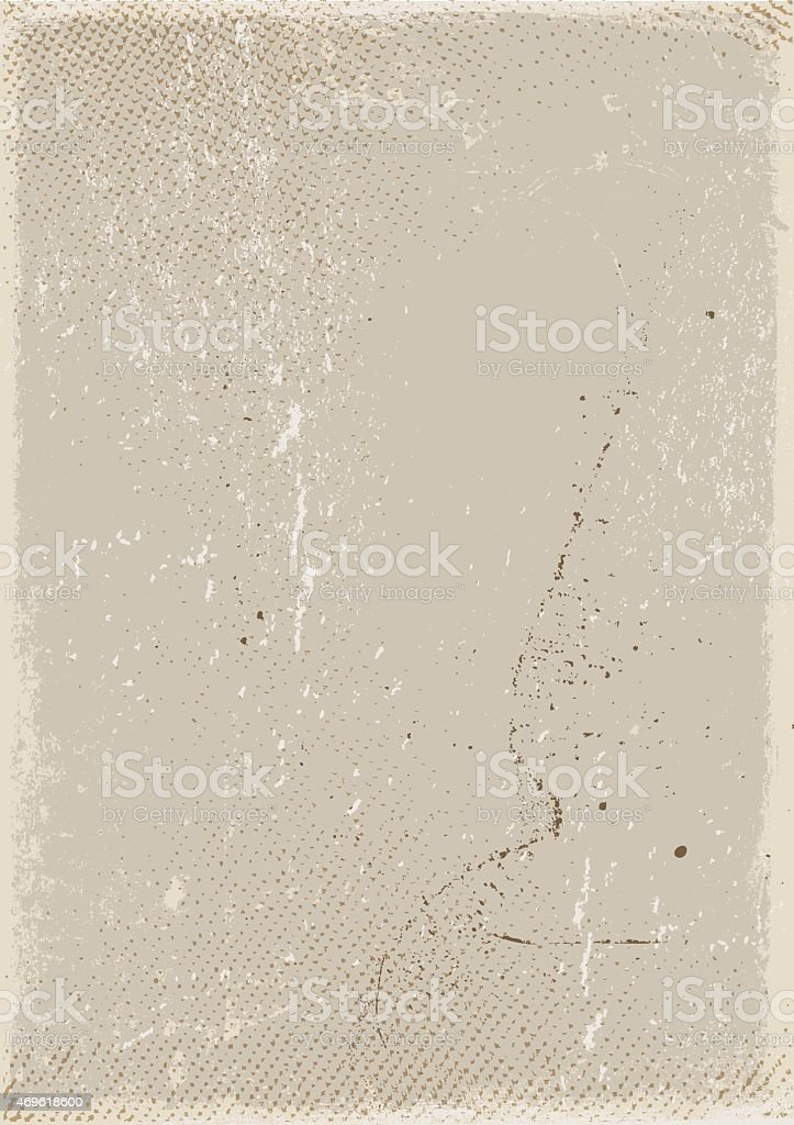 Grunge background: Old and dirty beige canvas vector art illustration