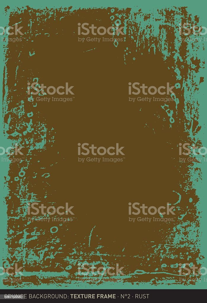 Grunge background: Rust (Textured frame n°2) vector art illustration