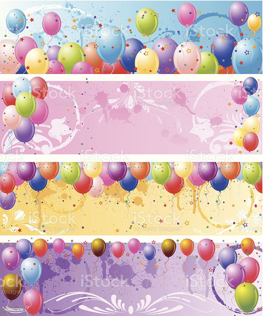 Grunge Balloons Background. royalty-free stock vector art