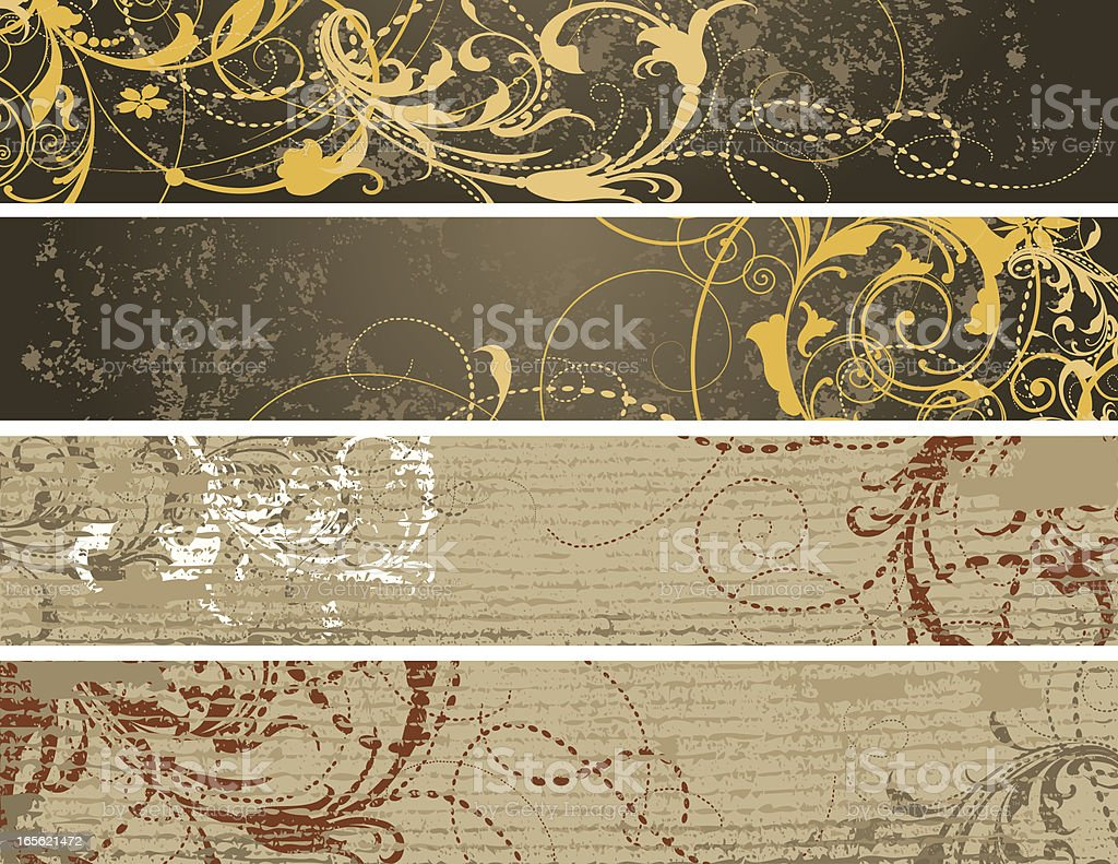 Grunge Banner Assortment royalty-free stock vector art