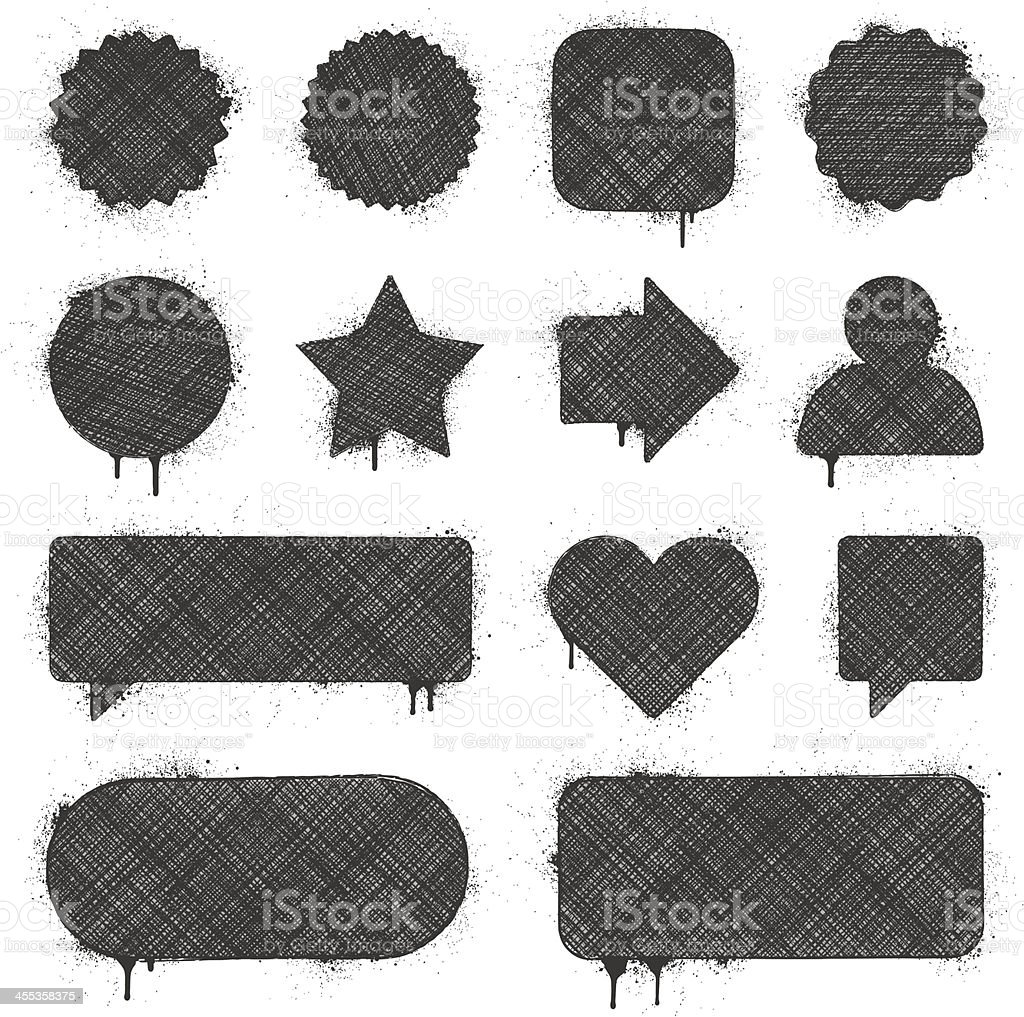Grunge Banners royalty-free stock vector art