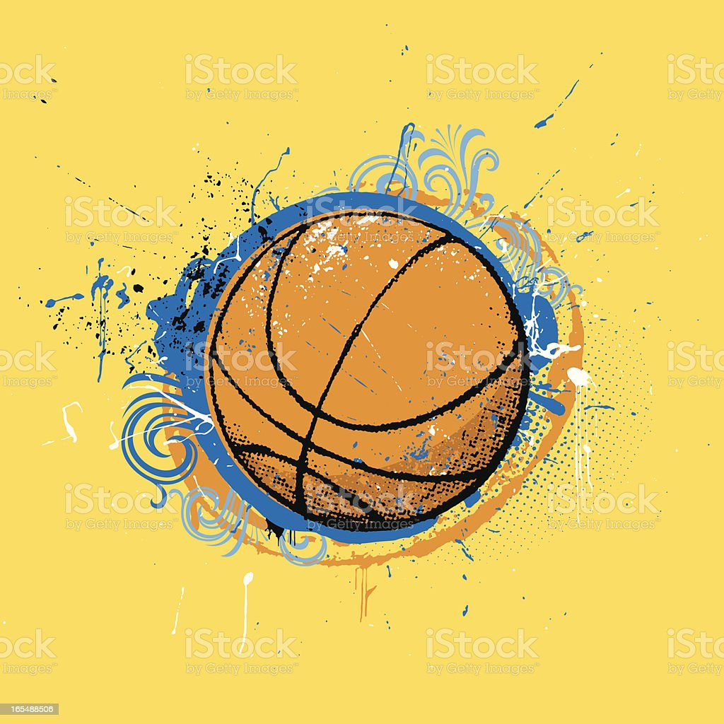 grunge basketball royalty-free stock vector art