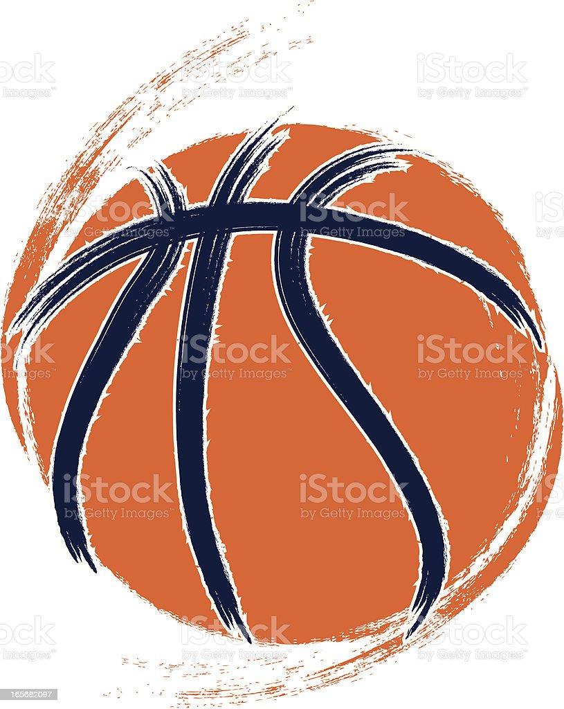 Grunge Basketball royalty-free stock vector art