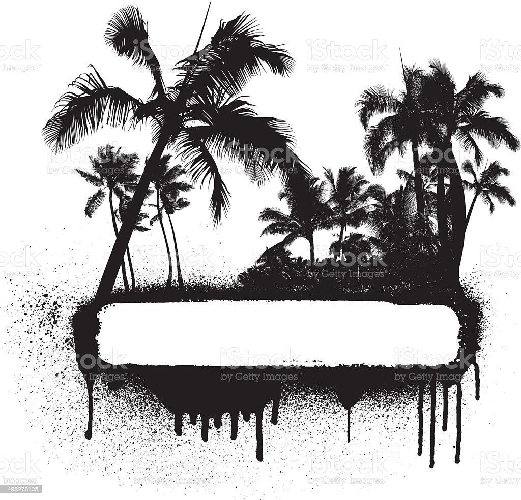 grunge beauty summer banner royalty-free stock vector art