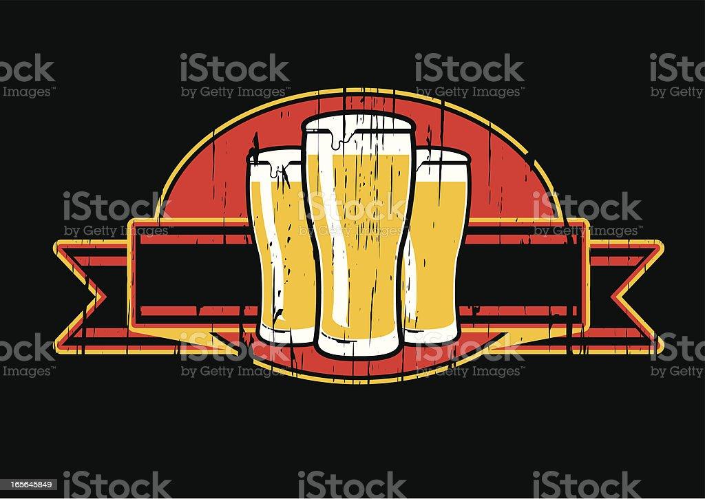 grunge beer emblem royalty-free stock vector art