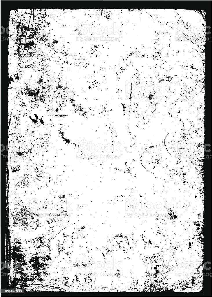 Grunge black and white damaged frame vector art illustration