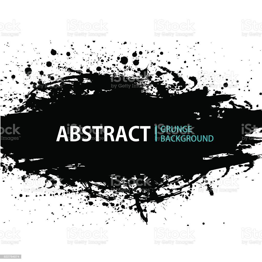 Grunge Black and White Distress vector art illustration
