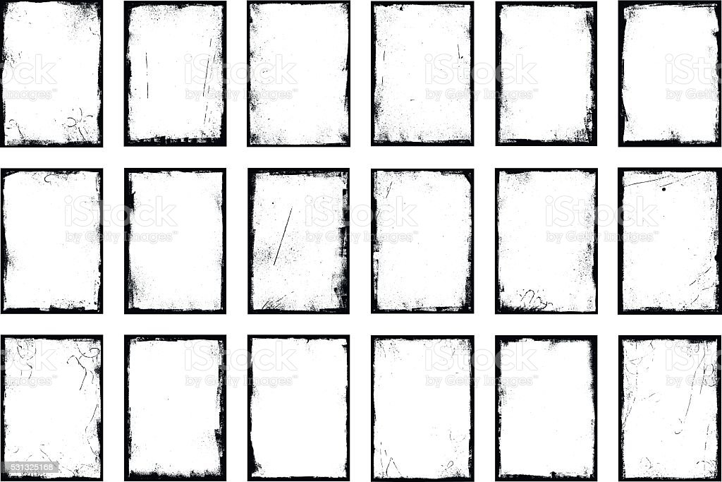 Grunge border frames vector art illustration