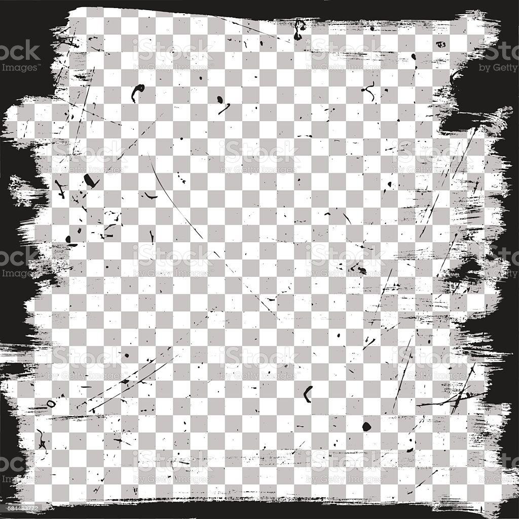 Grunge border template vector art illustration