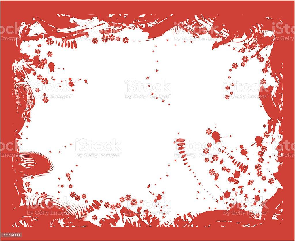 Grunge border, vector royalty-free stock vector art