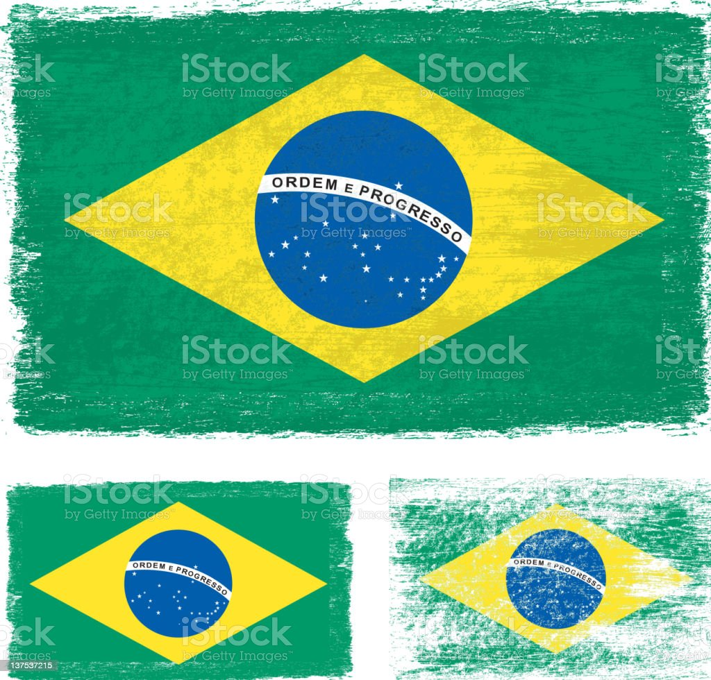 Grunge Brazil flag royalty-free stock vector art